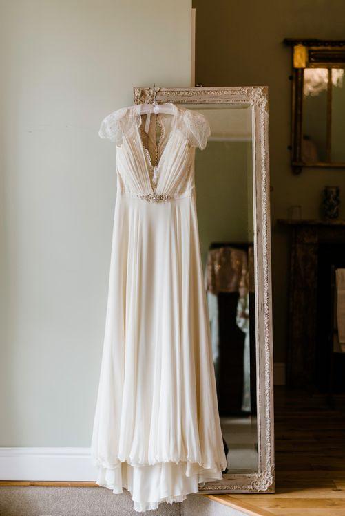 Jenny Packham Wedding Dress | Outdoor Ceremony & Rustic Barn Reception at Pennard House Somerset | John Barwood Photography