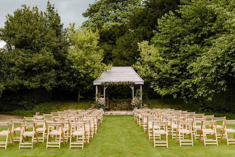 Outdoor Ceremony & Rustic Barn Reception at Pennard House Somerset | John Barwood Photography