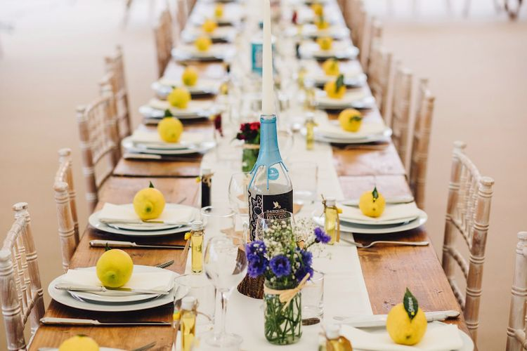Table Scape | DIY At Home Marquee Wedding | J S Coates Wedding Photography
