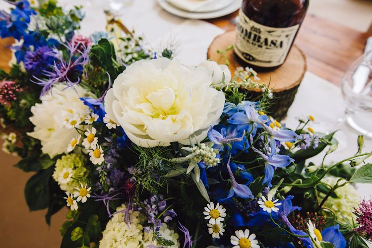 Wedding Flowers | DIY At Home Marquee Wedding | J S Coates Wedding Photography