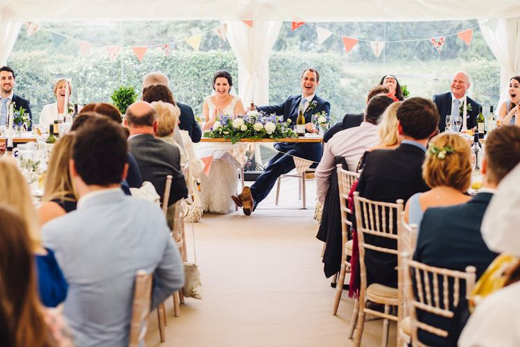 Wedding Reception | DIY At Home Marquee Wedding | J S Coates Wedding Photography