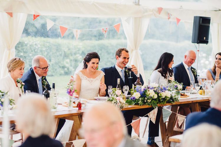 Speeches | DIY At Home Marquee Wedding | J S Coates Wedding Photography