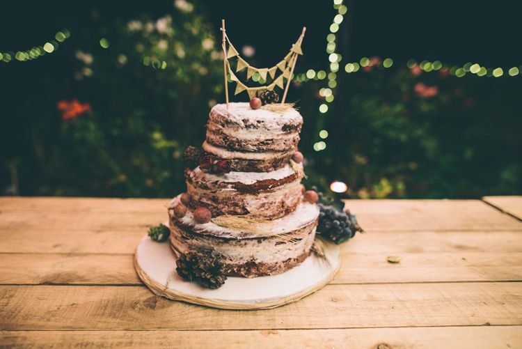 Naked Wedding Cake Made By The Bride