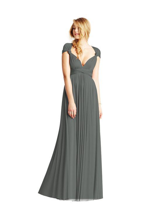 Smoky Grey Classic Ballgown 4