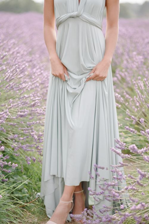 Sage green twobirds bridesmaid dress