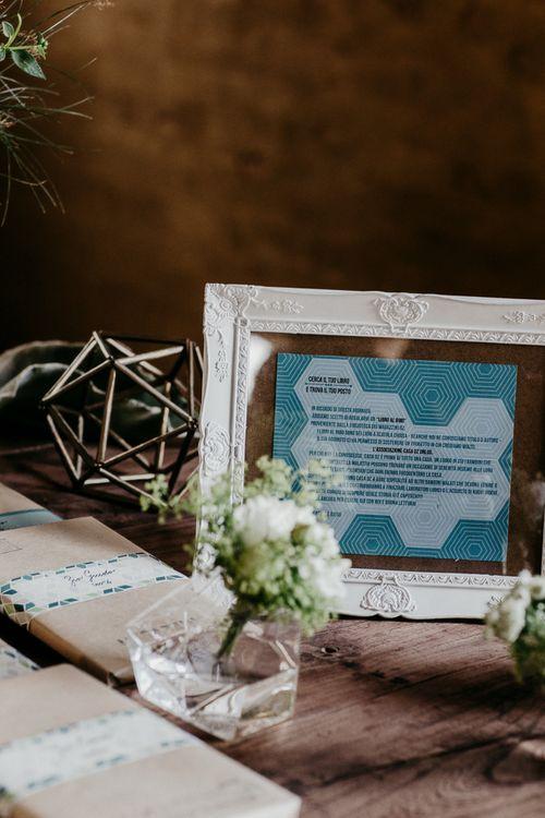 Copper Terrarium & White Flower Decor | That Day Wedding Planner | Carla Penoncelli Photography