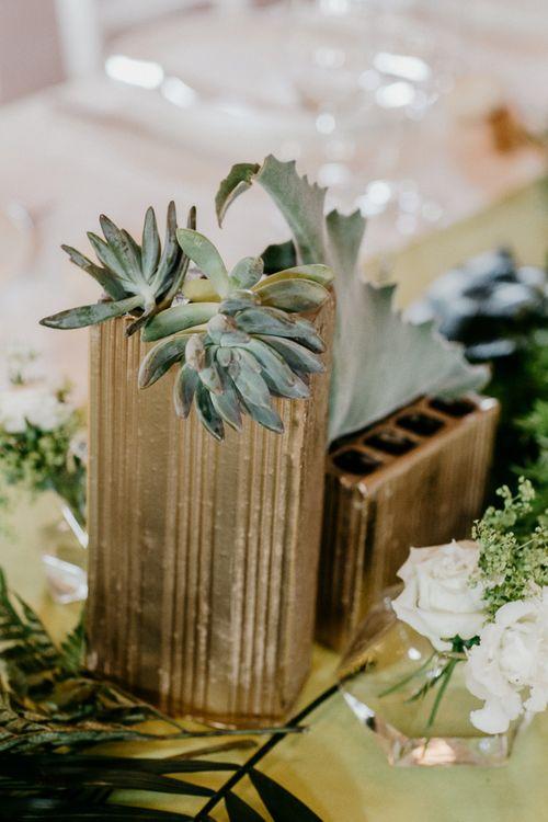 Succulent Wedding Decor | That Day Wedding Planner | Carla Penoncelli Photography