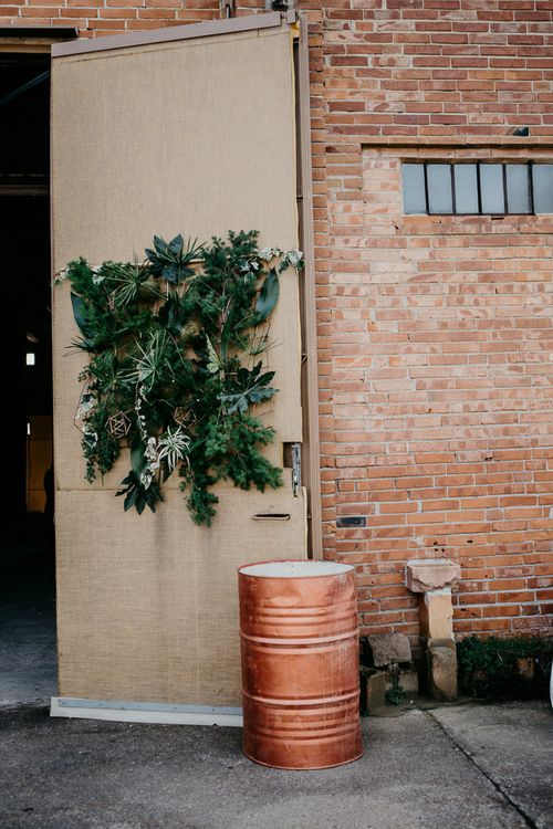 Copper Barrel & Greenery Decor | That Day Wedding Planner | Carla Penoncelli Photography