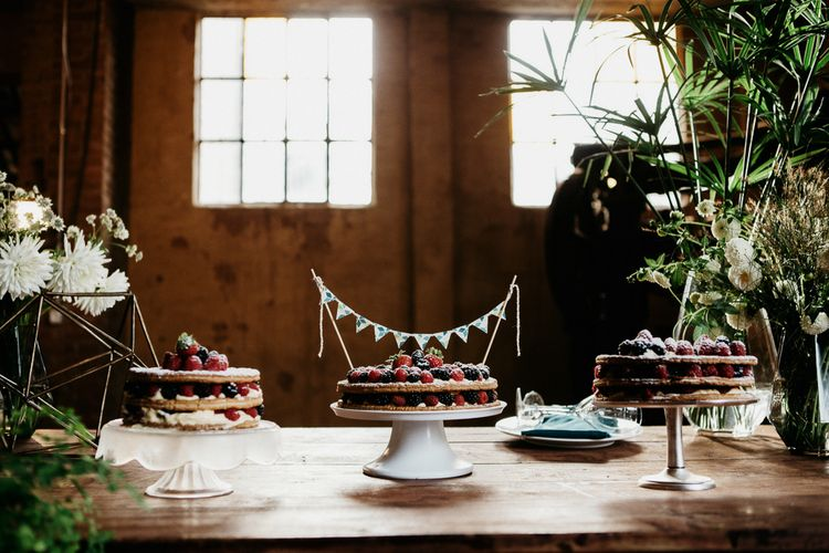 Dessert Table with Greenery & Copper Geometric Decor | That Day Wedding Planner | Carla Penoncelli Photography