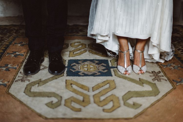 Bride & Groom Wedding Shoes | Tropical Green & Fuchsia Pink Outdoor Wedding at Castellina de Miremont, Italy Planned & Styled by Come le Ciliegie Wedding & Events | Images by Effeanfotografie | Film by Headshot Weddings
