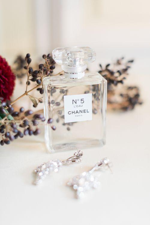 Chanel No. 5 Perfume & Earrings