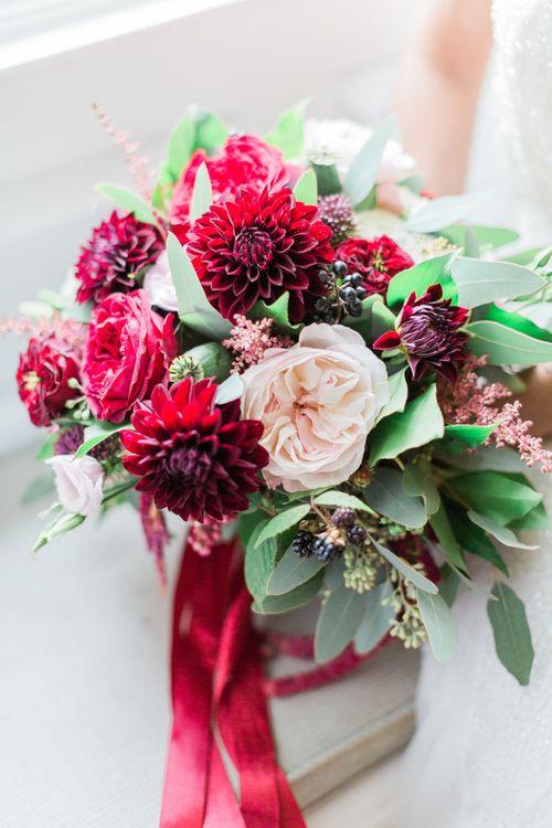 Elegant Red Wedding Flowers