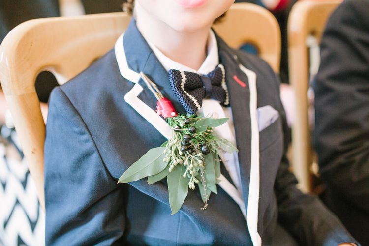 Page Boy with Greenery Buttonhole