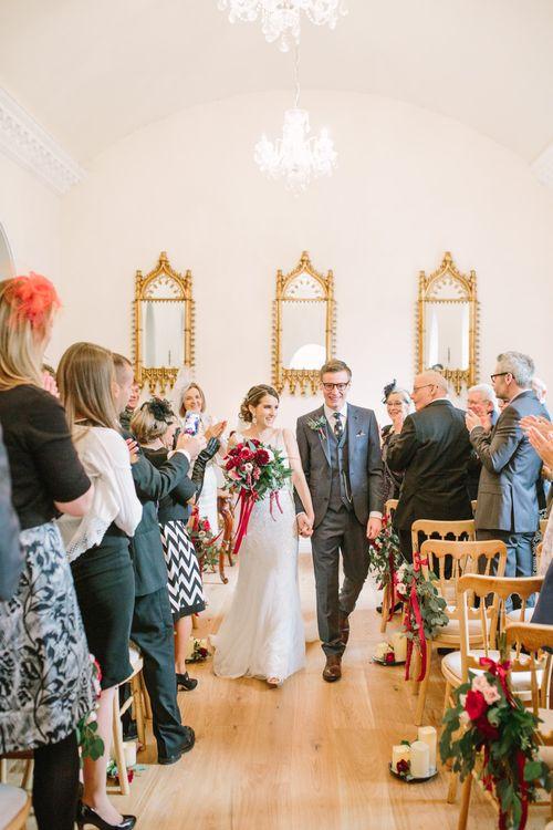 Bride & Groom Wedding Ceremony - Married