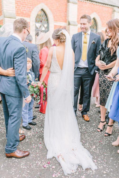 Elegant Bride in Rosa Clara Wedding Dress