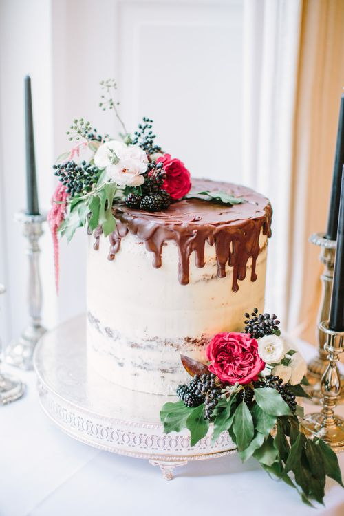 Semi Naked Cake with Chocolate & Salted Caramel Drizzle