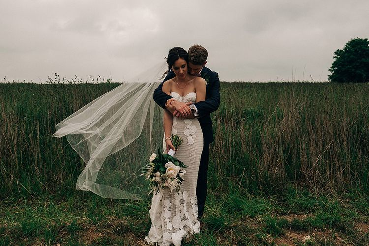 Rue De Seine Bride For A Stone Barn Wedding With Wedding Party In Soft Pink And Navy And Images From Jason Mark Harris With Film By Harris Films