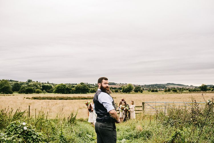 Festival Wedding In A Tipi With An Outdoor Wedding Ceremony