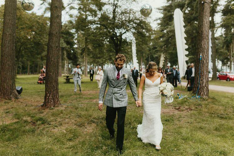 Bride & Groom Outdoor Wedding