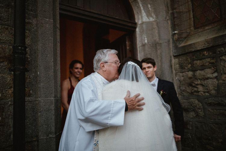 Kaviar Gauche Wedding Dress For A Candlelit Wedding | Connemara Ireland | James Frost Photography