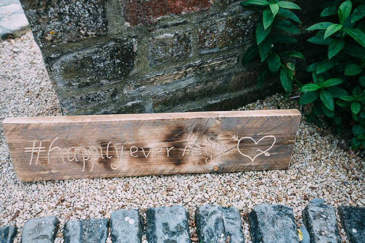 Wooden Happily Ever After Sign