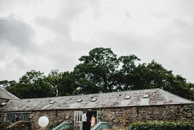 Farm Wedding Venue Cornwall // Embellished Jenny Packham Gown Marquee Wedding At Coombeshead Farm Cornwall The Garden Gate Flower Co Planning Jenny Wren Events Images Barney Walters Photography