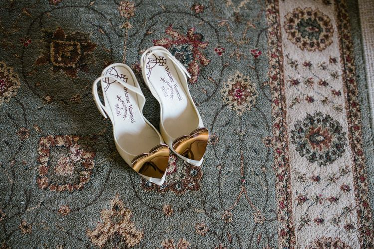 Vivienne Westwood Bridal Shoes | DIY Wedding at Upwaltham Barns with Bright Flowers | Danielle Victoria Photography