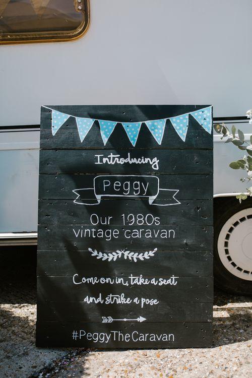 Chalkboard Wedding Sign | DIY Wedding at Upwaltham Barns with Bright Flowers | Danielle Victoria Photography