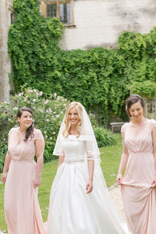 Bridesmaids In Blush Pink ASOS Dresses
