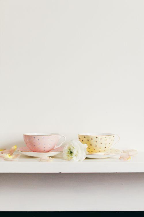 Pretty bone china tea cups