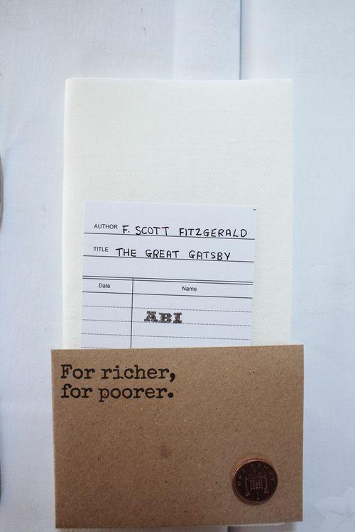 Library Card Wedding Stationery