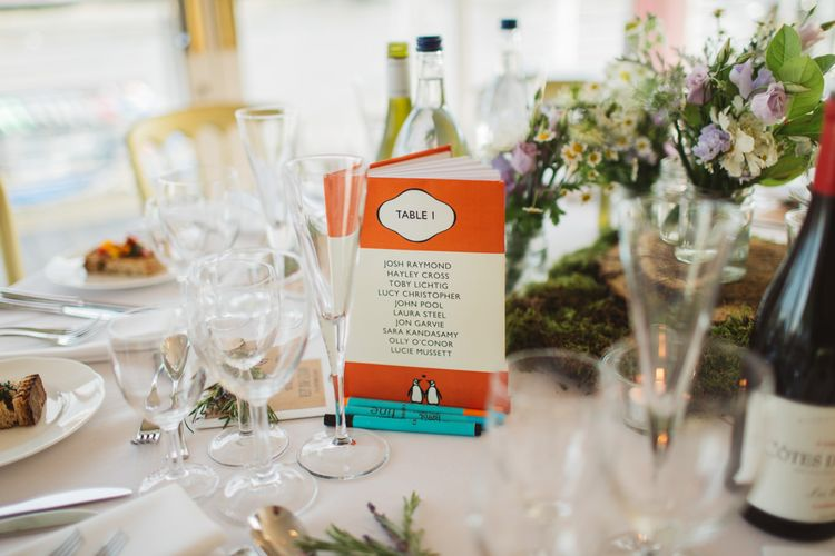 Penguin Classic Book Table Details For Wedding