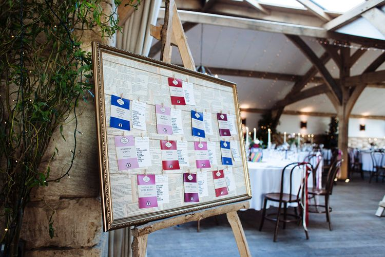 Wedding Table Plan For Book Lovers // Penguin Classic Table Plan For Wedding