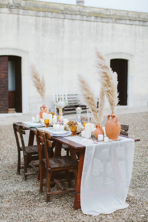 Table scape | Natural Wedding Inspiration in the Apulian Karst Lands | Cristina Firotto Event Design | Valentina Oprandi Photography