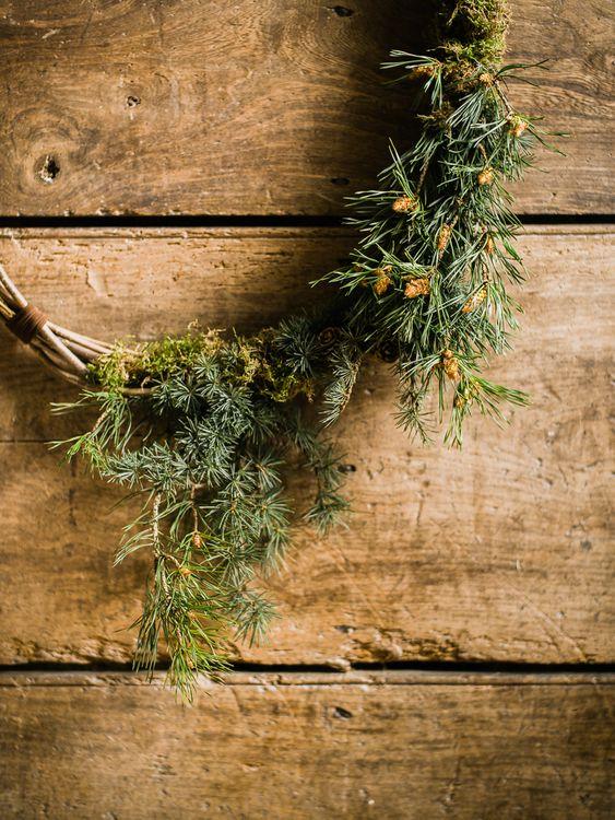 Foliage Ever Green Wreathe For Christmas or Winter Wedding