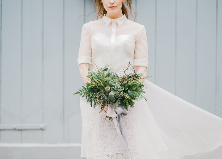 Greenery & Foliage Wedding Bouquet