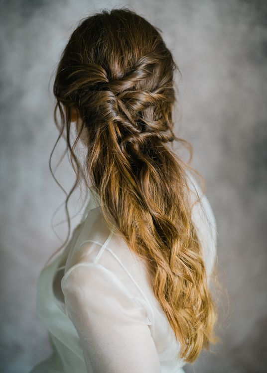 Loose Plaited Up Do For Brides