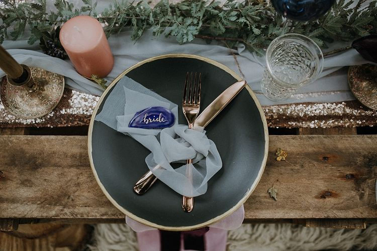 Place Setting | Styling by The White Emporium | Woodland Bohemian Luxe Inspiration | Lola Rose Photography & Film