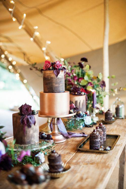 Opulent Cake Table For Wedding