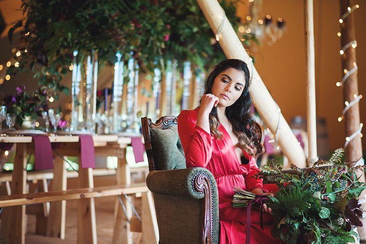 Bride In Red Wedding Dress By Indiebride From Minna