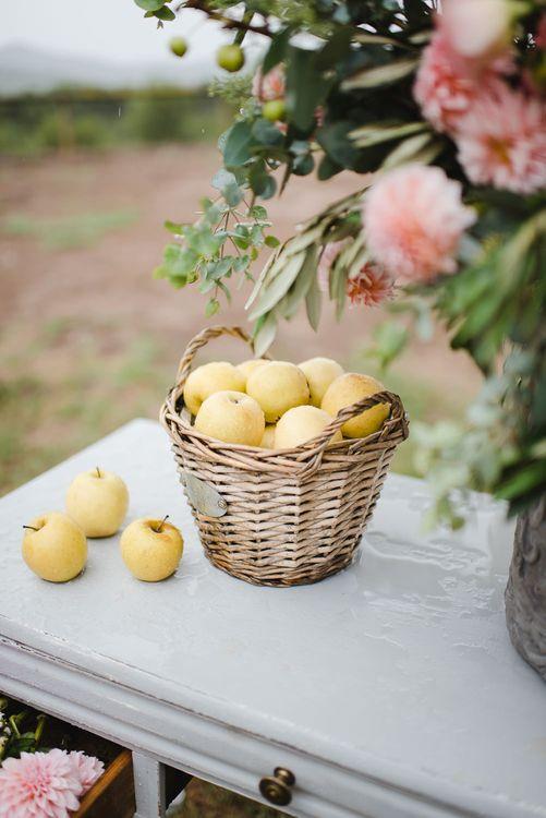 Basket of Apples Wedding Decor