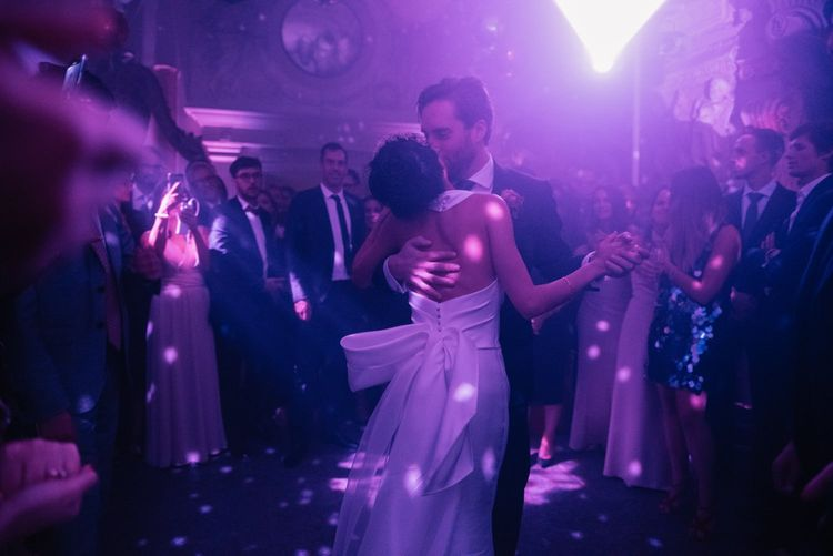 Bride and groom first dance at Aynhoe Park