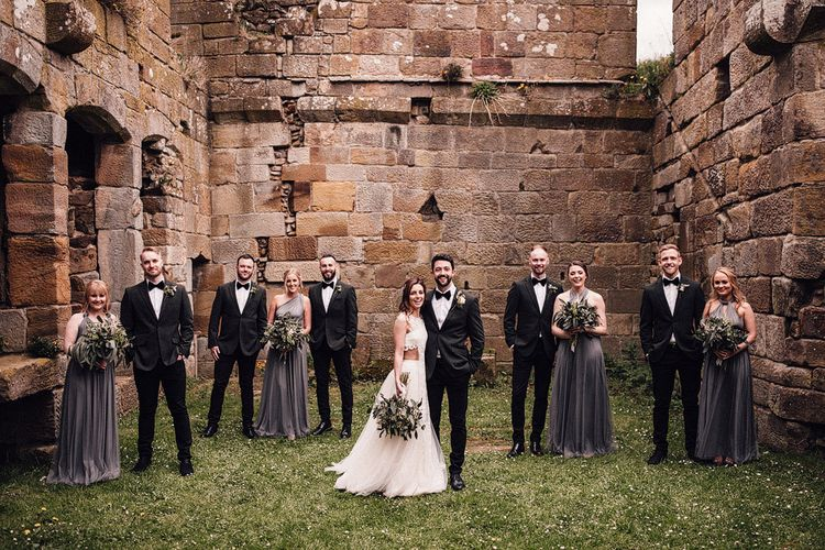 Bridesmaid and Groomsmen at Danby Castle wedding