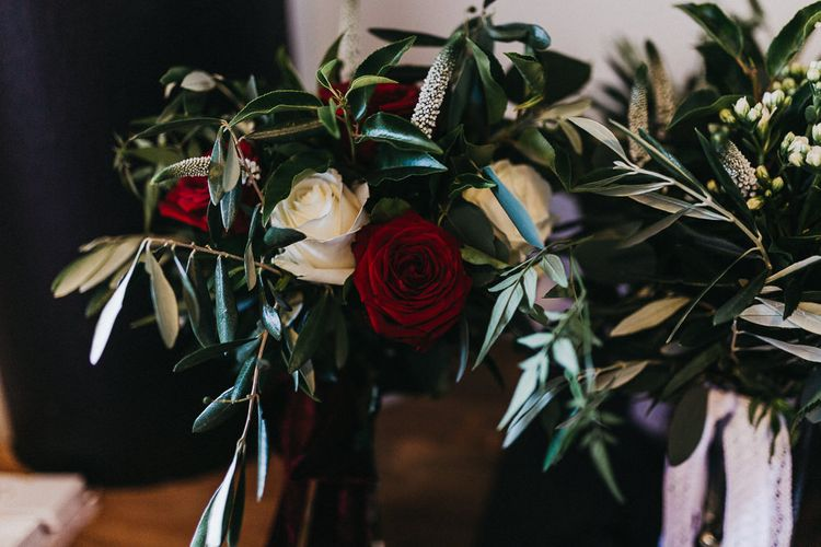 Red and White Wedding Flowers | Nottinghamshire Wedding with Spanish Vibes and Rewritten Bridesmaids Dresses | Kev Elkins Photography