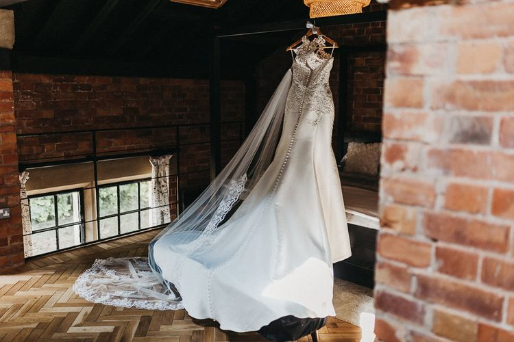 Lace Racerback Essence of Australia Wedding Dress | Nottinghamshire Wedding with Spanish Vibes and Rewritten Bridesmaids Dresses| Kev Elkins Photography