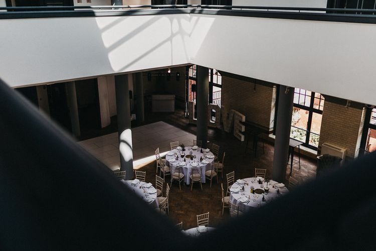 Wedding Reception Decor | Love Letter Lights | The Pumping House | Nottinghamshire Wedding with Spanish Vibes and Rewritten Bridesmaids Dresses | Kev Elkins Photography