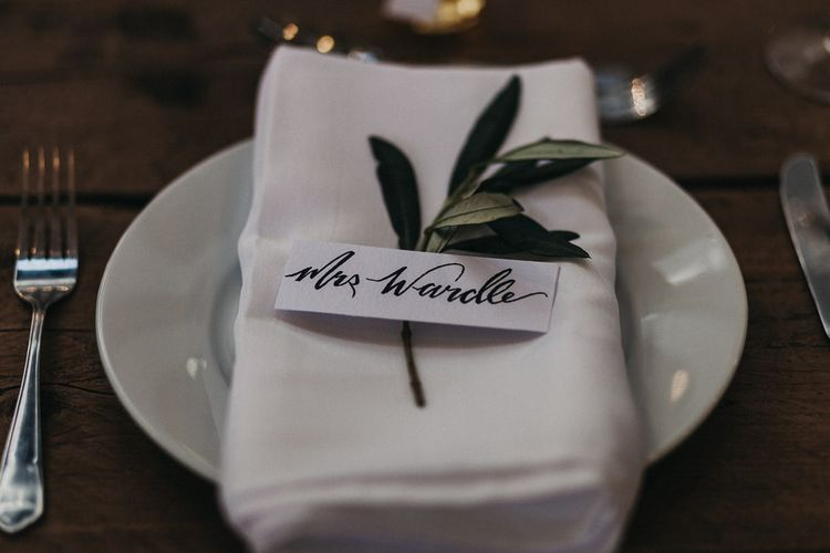 Wedding Reception Decor | Place Setting | Nottinghamshire Wedding with Spanish Vibes and Rewritten Bridesmaids Dresses | Kev Elkins Photography