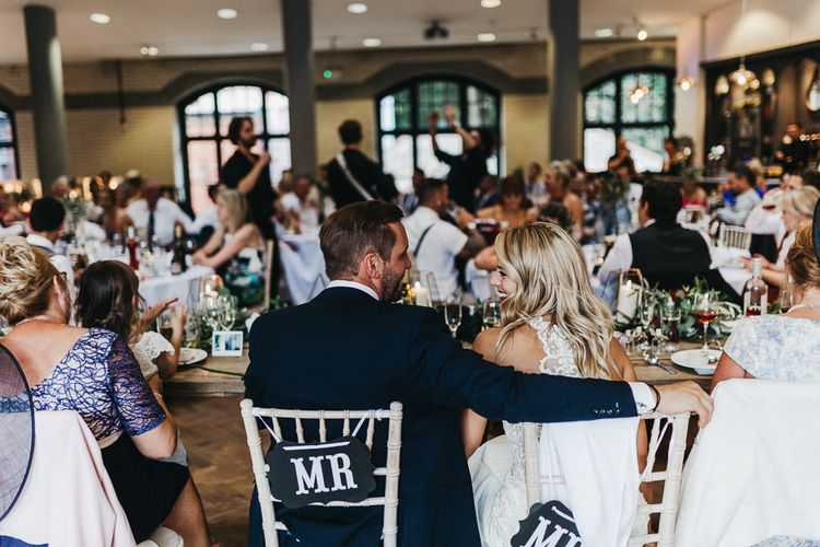 Singing Waiters | Bride in Lace Racerback Essence of Australia Wedding Dress | Groom in Navy Suit from Coneys of Lincoln | Nottinghamshire Wedding with Spanish Vibes and Rewritten Bridesmaids Dresses | Kev Elkins Photography