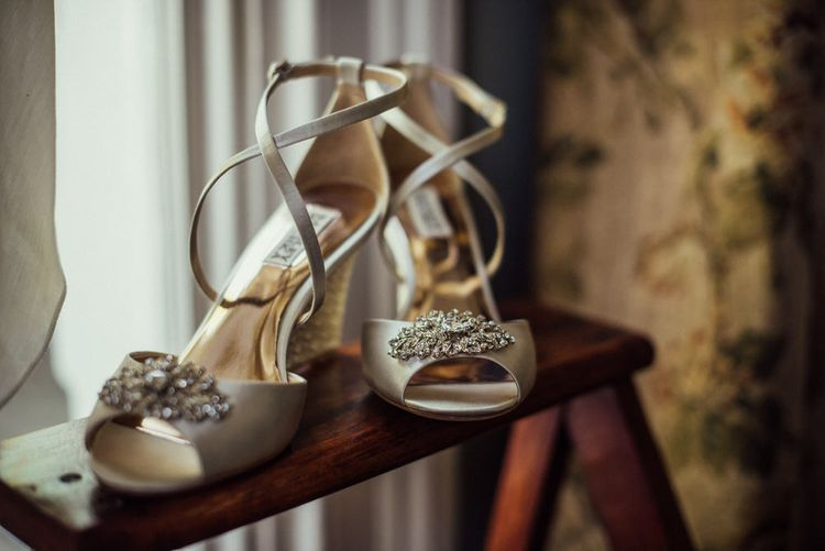 Wedding Wedge Sandals For Bride // Bermondsey Yard Cafe Wedding With Architect Bride In Andrea Hawkes & Groom In Paul Smith Images From Michelle Wood Photographer