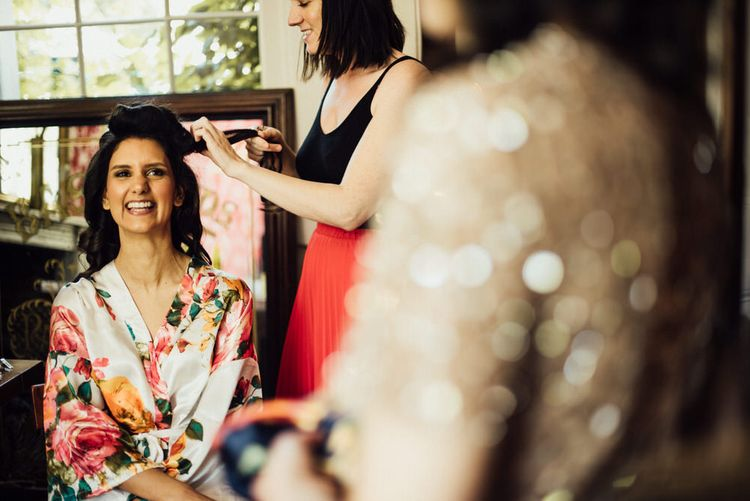 Getting Ready // Bermondsey Yard Cafe Wedding With Architect Bride In Andrea Hawkes & Groom In Paul Smith Images From Michelle Wood Photographer
